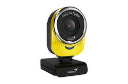Веб-Камера Genius QCam 6000, yellow, Full-HD 1080p, universal clip, 360 degree swivel, USB, built-in microphone, rotation 360 degree, tilt 90 degree